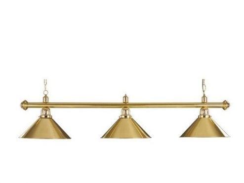 lampara para billar dorada