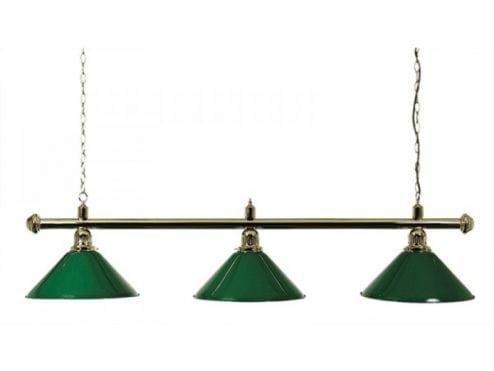 lampara para billar verde