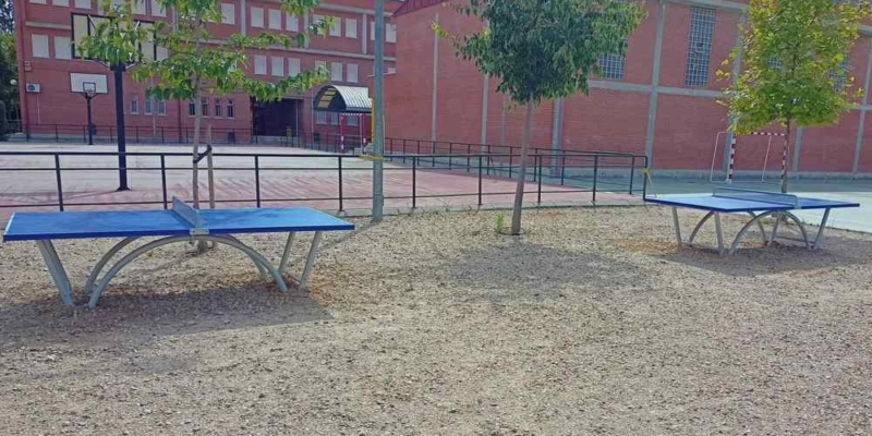 2 mesas ping pong sport patio colegio