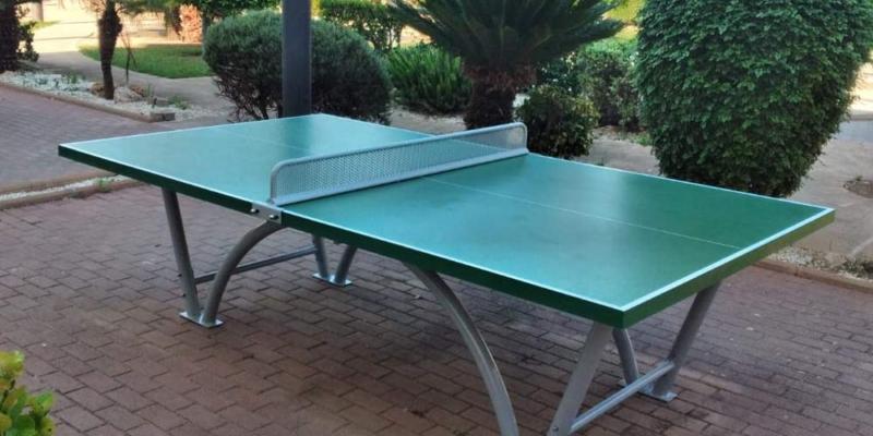 mesa pingpong verde sport hotel mallorca