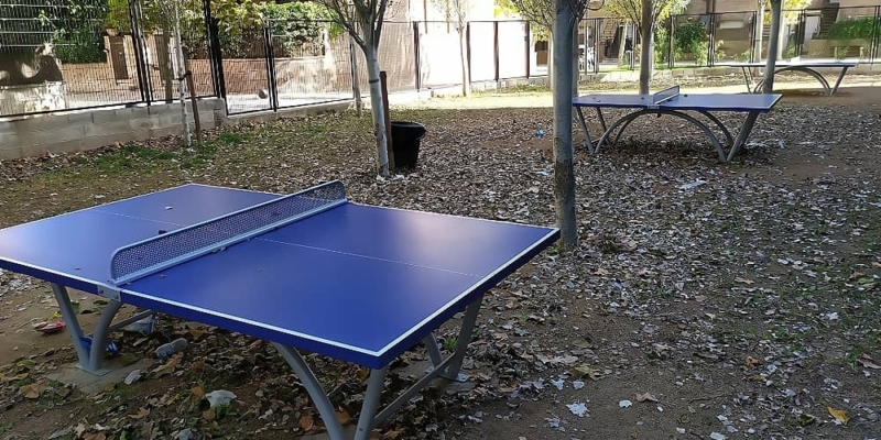 mesas ping pong sport parque